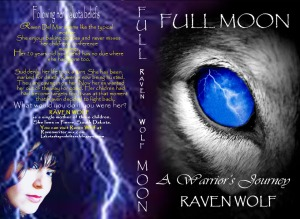 graphic Full Moon raven Wolf